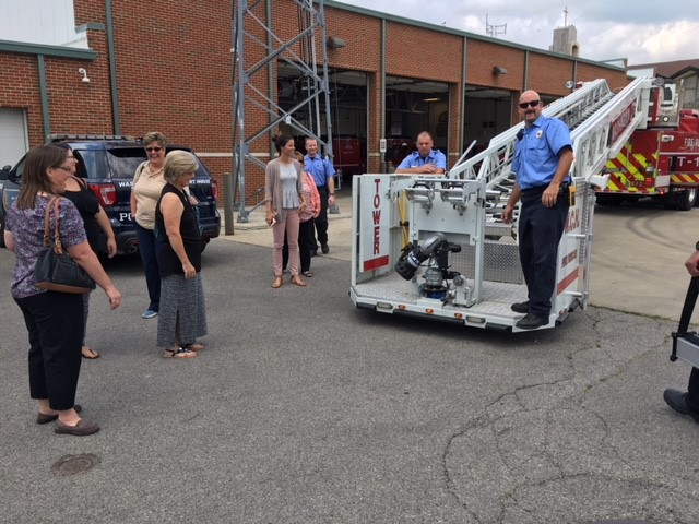 Participants take a Community Tour of the City of Washington Court House Fire Department